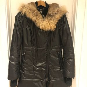 Mackage winter coat with fur hood - 6 years old